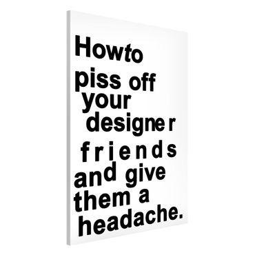 Lavagna magnetica - Designers Headache - Formato verticale 2:3