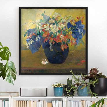 Poster con cornice - Paul Gauguin - Vase With Flowers - Quadrato 1:1