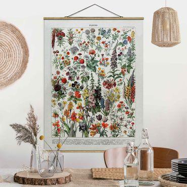 Foto su tessuto da parete con bastone - Vintage Consiglio Flowers IV - Verticale 4:3