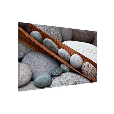 Lavagna magnetica - Ancora Vita Con Grey Stones - Formato orizzontale 3:2