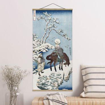 Foto su tessuto da parete con bastone - Katsushika Hokusai - Il poeta cinese - Verticale 2:1