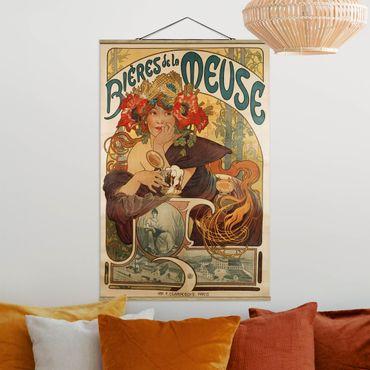Foto su tessuto da parete con bastone - Alfons Mucha - Poster For La Meuse Beer - Verticale 3:2