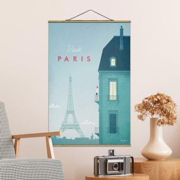 Foto su tessuto da parete con bastone - Poster Viaggio - Parigi - Verticale 3:2