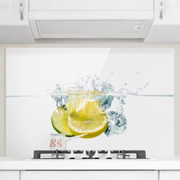 Paraschizzi in vetro - Lemon And Lime In Water - Orizzontale 2:3