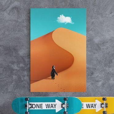 Stampa su tela - Deserto Con Penguin - Verticale 3:2