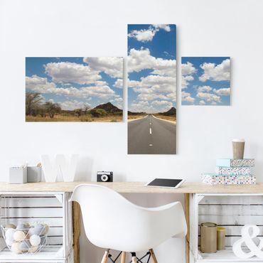 Stampa su tela 3 parti - Route 66 - Collage 2