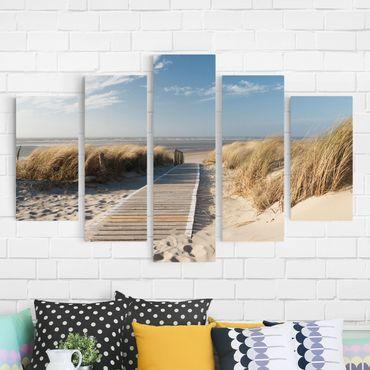Stampa su tela 5 parti - Baltic Sea beach
