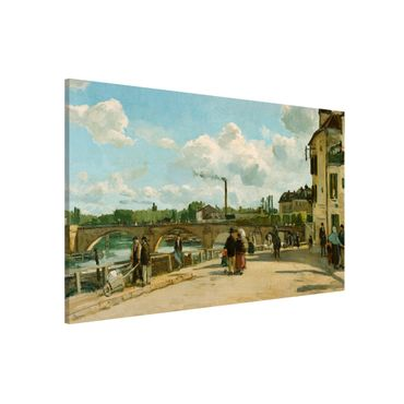 Lavagna magnetica - Camille Pissarro - Vista Di Pontoise - Formato orizzontale 3:2