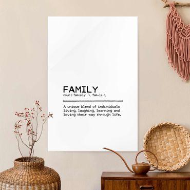 Quadro in vetro - Definition Family Unique