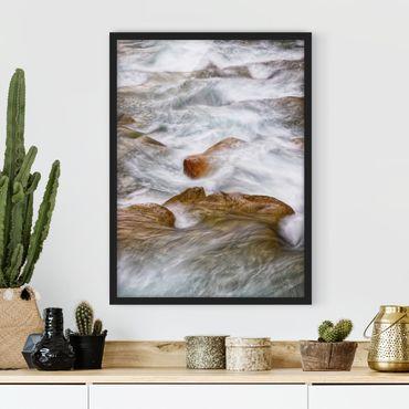 Poster con cornice - Freddo ruscello montano