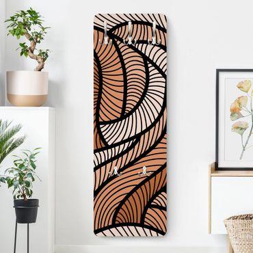 Appendiabiti - woodcut in brown