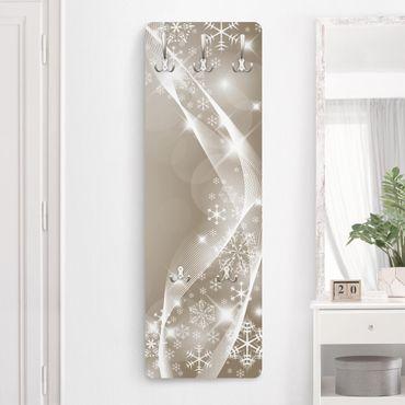 Appendiabiti di design - Il luccichio della neve - Beige