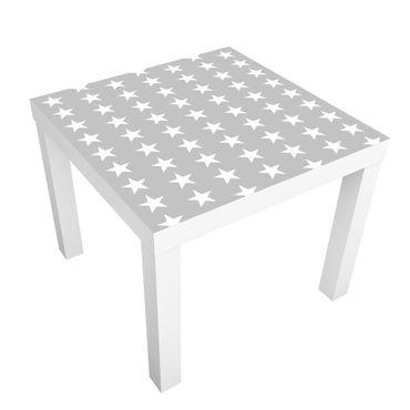 Tavolino design White stars on grey background
