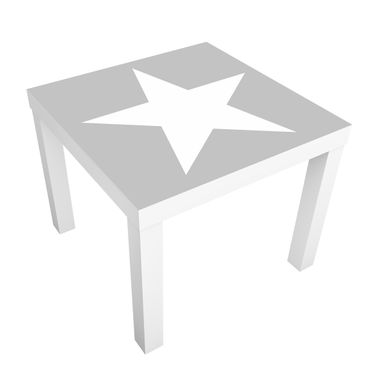 Tavolino design Large white stars on grey