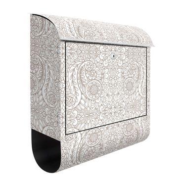 Cassetta postale - Trama dettagliata Jugendstil in grigio beige