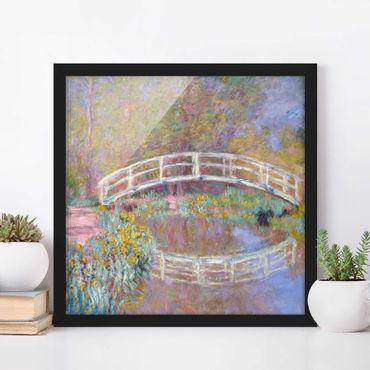 Poster con cornice - Claude Monet - Bridge Monet'S Garden - Quadrato 1:1
