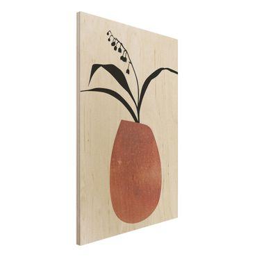 Stampa su legno - Mondo vegetale grafico - Mughetto - Verticale 3:2