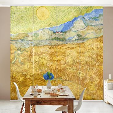 Tende scorrevoli set - Vincent Van Gogh - The Harvest, The Grain Field