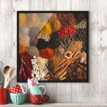 Poster con cornice - Exotic Spices - Quadrato 1:1