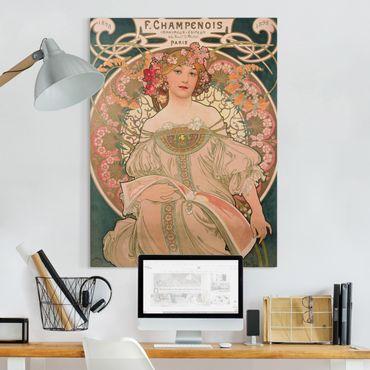 Quadri su tela - Alfons Mucha - Poster For F. Champenois