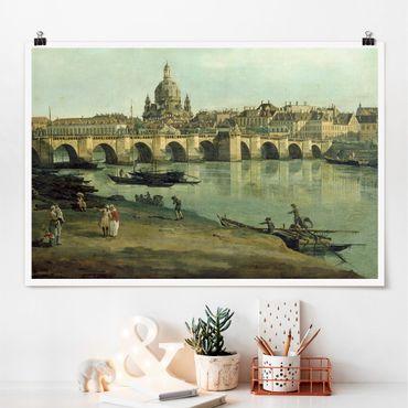 Poster - Bernardo Bellotto - Dresda dalla riva destra - Orizzontale 2:3