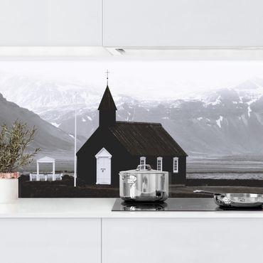 Rivestimento cucina - La chiesa nera