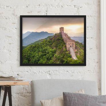 Poster con cornice - Il muro infinito della Cina