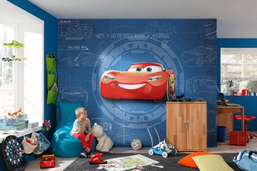 Carta da parati - Disney Cars 3 - Blueprint