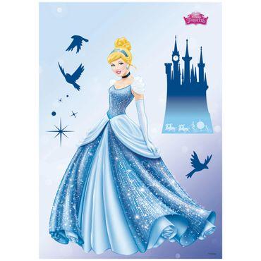 Adesivo murale per bambini - Principesse Disney: sogno da principessa