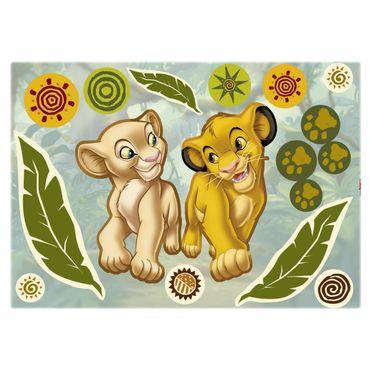 Adesivo murale per bambini - Il Re Leone: Simba e Nala