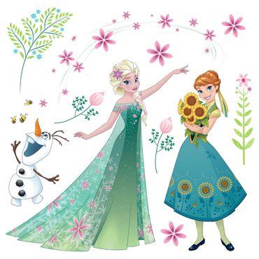 Sticker per vetri per bambini - Frozen fiori