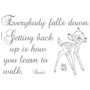 Adesivo murale per bambini - Bambi: getting back up