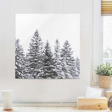 Quadro in vetro - Paesaggio invernale scuro