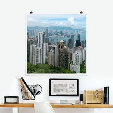 Poster - Guardando Hong Kong - Quadrato 1:1
