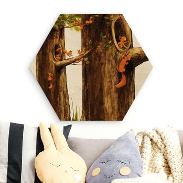 Esagono in legno - Home Of Einhörnchen