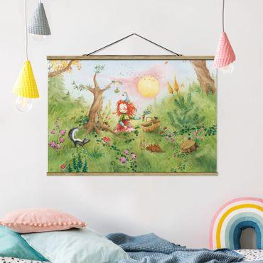Foto su tessuto da parete con bastone - Frida Gathers Erbe - Orizzontale 2:3