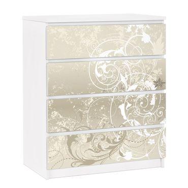 Carta adesiva per mobili IKEA - Malm Cassettiera 4xCassetti - Pearl ornament design
