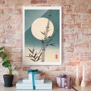 Quadro in vetro - Giapponese Disegno Bambù E Luna - Verticale 3:2