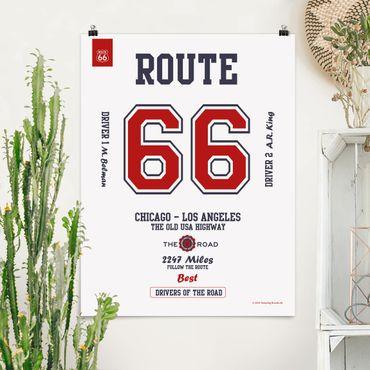 Poster - Route 66 - migliori piloti luminoso - Verticale 4:3