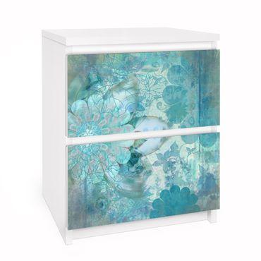 Carta adesiva per mobili IKEA - Malm Cassettiera 2xCassetti - Winter Flowers