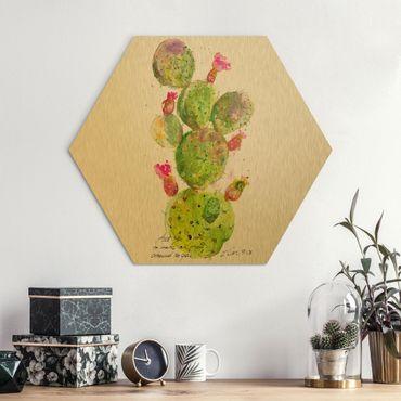 Esagono in Alu-dibond - Cactus Con Versetti della Bibbia IV