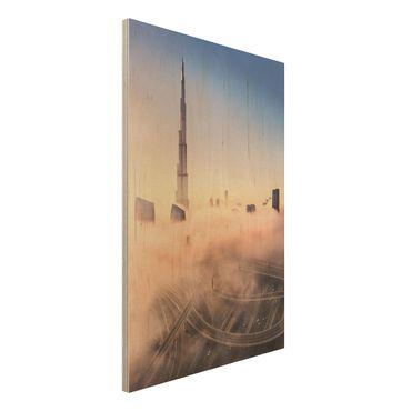 Quadro in legno - Heavenly skyline di Dubai - Verticale 2:3