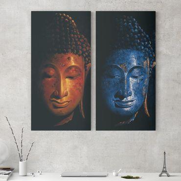 Stampa su tela 2 parti - Delhi and Madras Buddha - Verticale 2:1