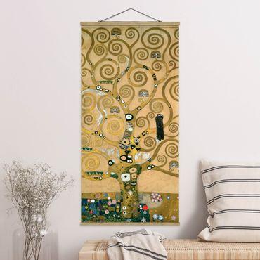 Foto su tessuto da parete con bastone - Gustav Klimt - Tree Of Life - Verticale 2:1