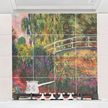 Adesivi per piastrelle con immagine - Claude Monet - Ponte di giapponese di Giverny