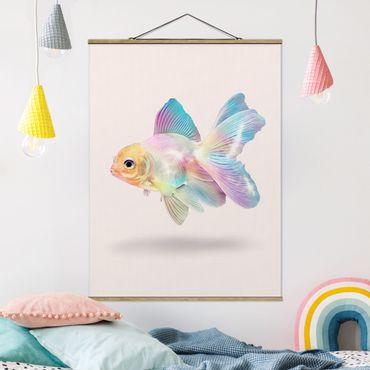Foto su tessuto da parete con bastone - Pesce In Pastel - Verticale 4:3