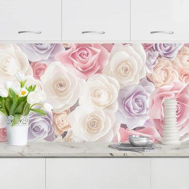 Rivestimento cucina - Rose color pastello