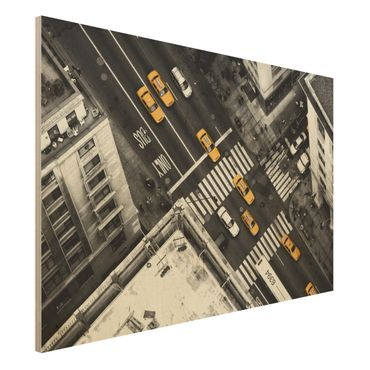 Quadro in legno - I taxi di New York - Orizzontale 3:2