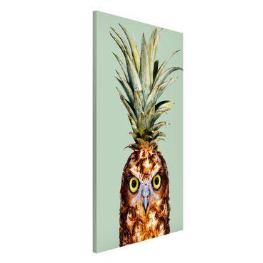 Lavagna magnetica - Ananas con civetta - Formato verticale 4:3