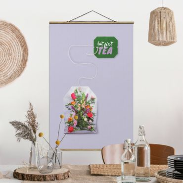 Foto su tessuto da parete con bastone - Tea Flower - Verticale 3:2